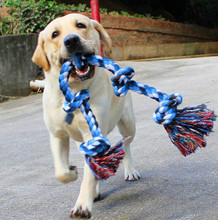 Pet Indestructible Dog Chew Toy Tough Nature Cotton for Medium and Large Breed Funny Simulated Bone Braided Rope Chew Knot Toys