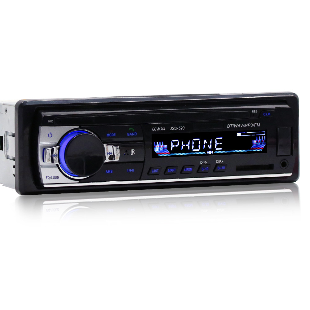 JSD-520 Bluetooth Auto Audio <font><b>Player</b></font> Auto Radio Stereo Autoradio 12V In-dash FM Aux Eingang Empfänger SD Karte slot <font><b>USB</b></font> <font><b>MP3</b></font> MMC WMA image