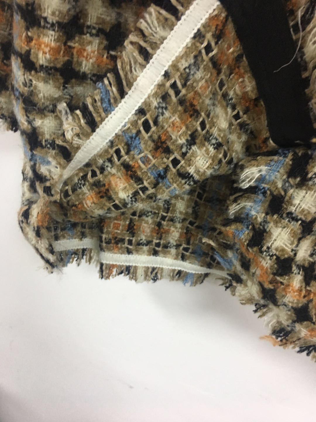 Image 4 - Women Sweater2019 Autumn and Winter Small Fragrance Wind Tweed Wool Blend Retro Check Coat CardiganPullovers