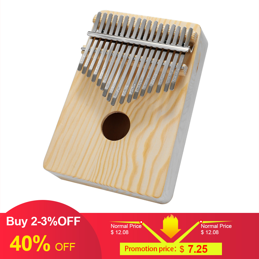 Simple Assembly Kalimba Handwork DIY Kit Wood Finger Thumb Piano for Children Kids Musical Instrument