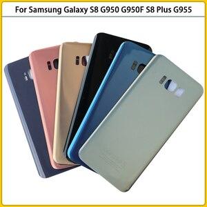 Image 3 - جراب هاتف خلوي زجاجي احتياطي ، غطاء بطارية لهاتف Samsung Galaxy G950 G950F S8 Plus G955 G955F ، 10 قطعة