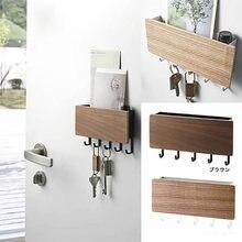 Деревянный Органайзер вешалка для ключей декоративные простые