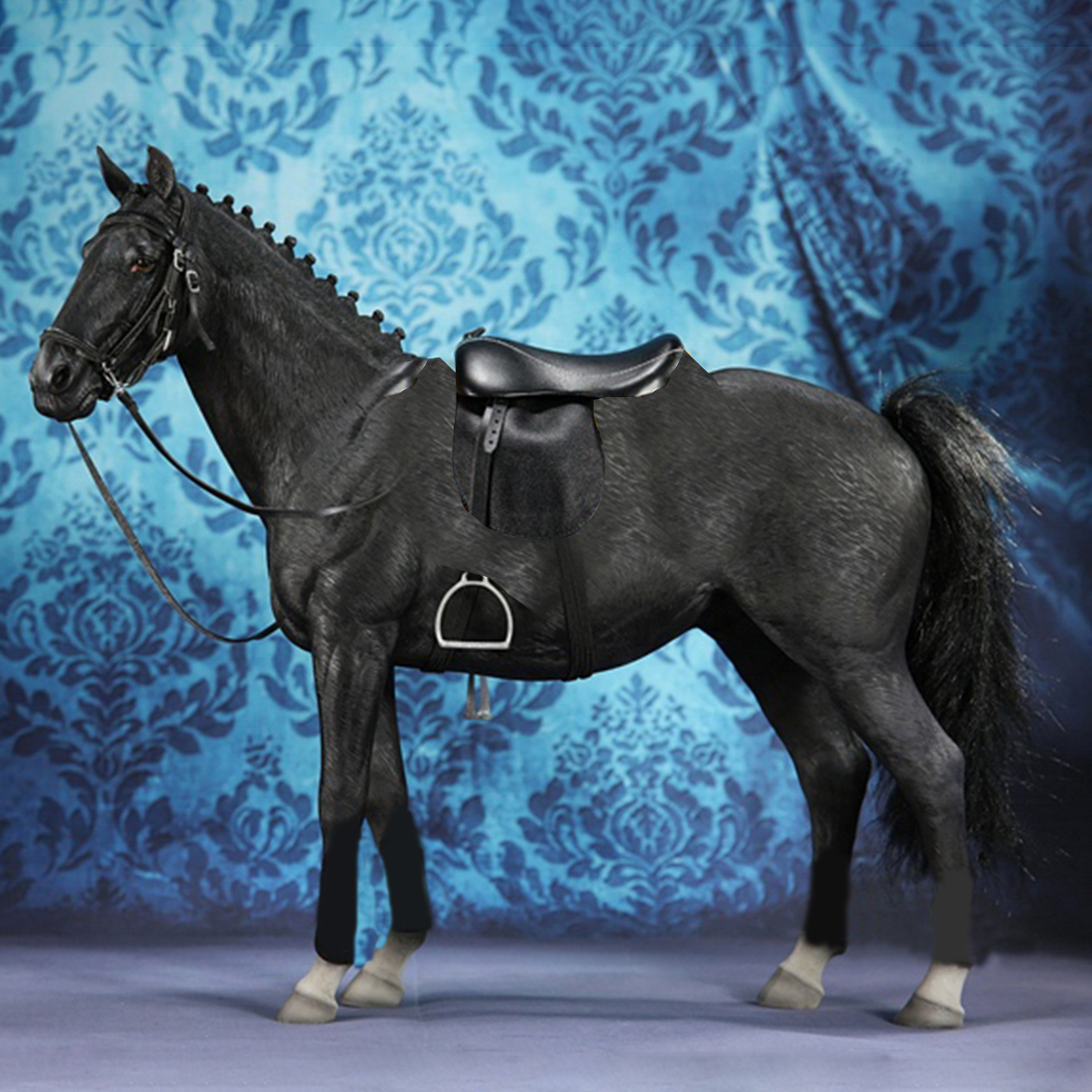 Rowsfire 1/6 32cm Germany Hannover Warm Blooded Model Simulation Horse Decoration - Black