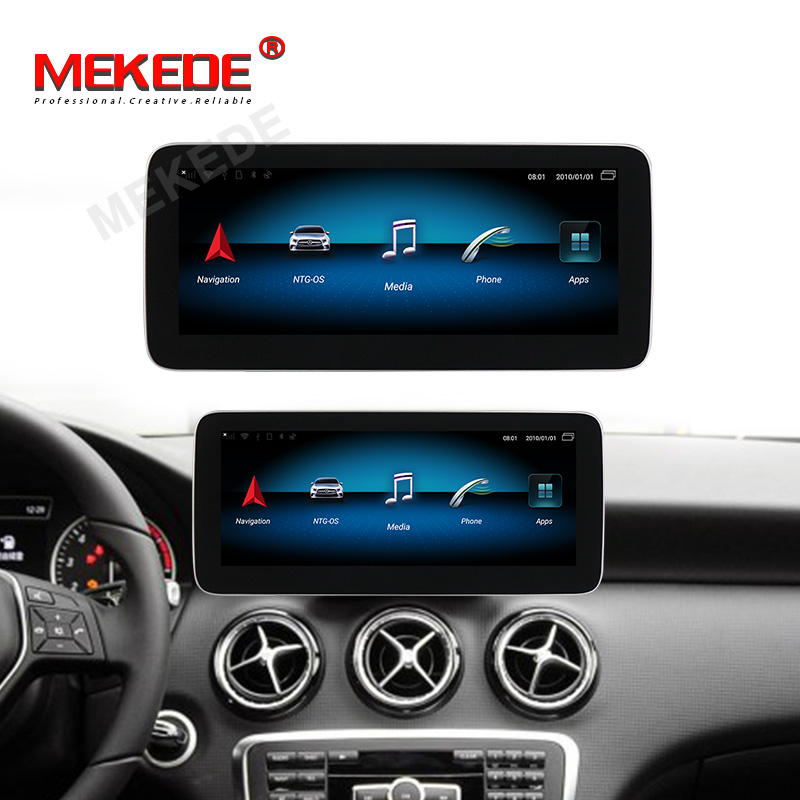 New! 8 cores 4GB+64GB 10.25 Android 9.0 car gps navigation multimedia player for Benz A Class W176 2013-2015 IPS 4G lte wifi BT image