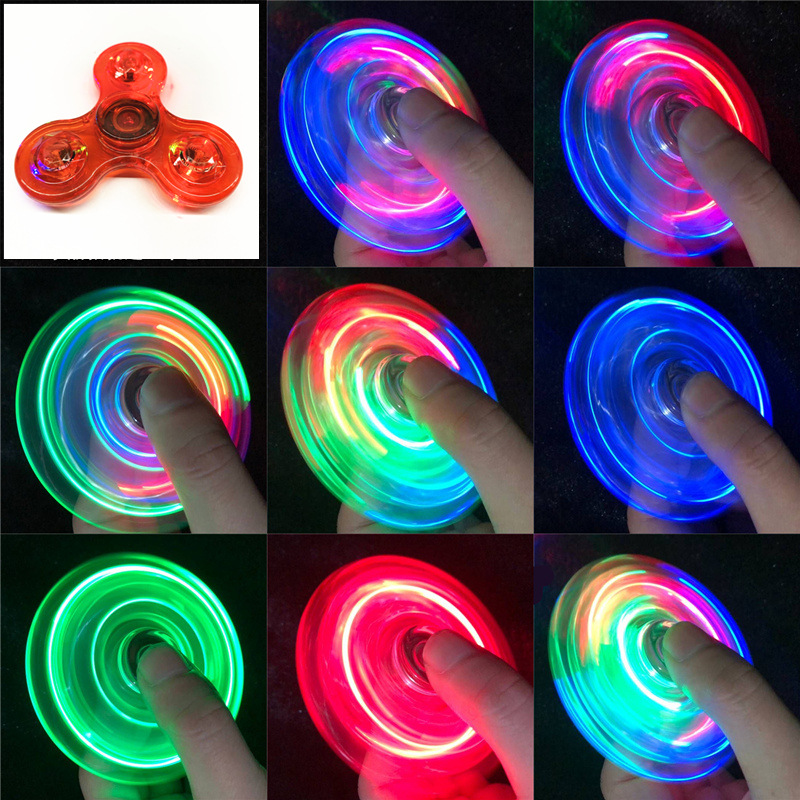 Relief-Toys Spinners Led-Light Kinetic-Gyroscope Hand-Top Edc Stress Glow-In-Dark Luminous img4