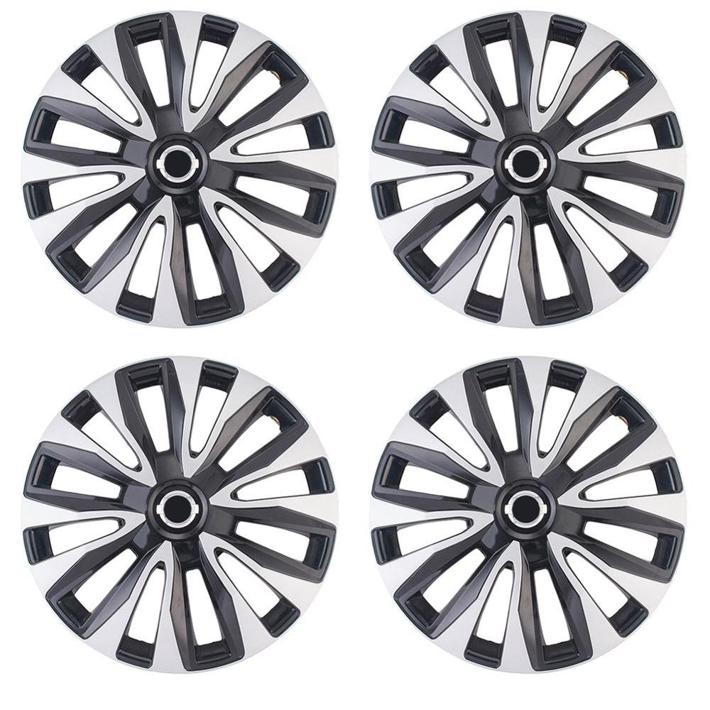 4pcs/set 14/15 Inch <font><b>Car</b></font> <font><b>Wheel</b></font> <font><b>Hub</b></font> Caps Universal <font><b>Car</b></font> <font><b>Wheel</b></font> <font><b>Hub</b></font> <font><b>Cover</b></font> Decorative Auto Replacement image