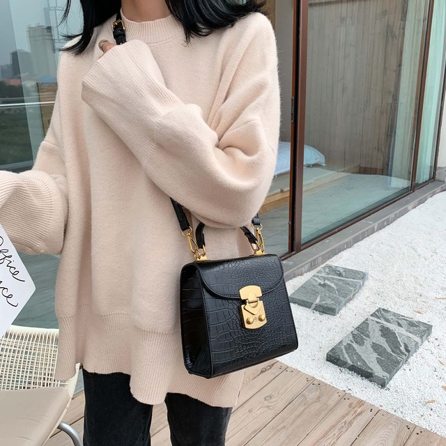 Mini Stone Pattern PU Leather Crossbody Bags For Women 2019 Lock Designer Shoulder Messenger Bag Female Travel Handbags 2