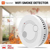 CPVan Tuya WiFi Smoke Detector Fire Alarm Wireless Smoke Alarm Fire Protection Fire Detector for Home Security Alarm System