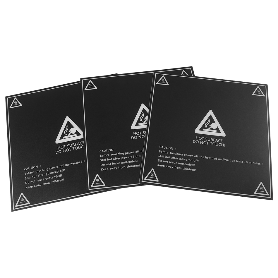 3D Printer Parts 200/214/<font><b>220</b></font>/280/300mm Frosted <font><b>Heated</b></font> <font><b>bed</b></font> Sticker printing Build Sheets build plate tape Platform Sticker image