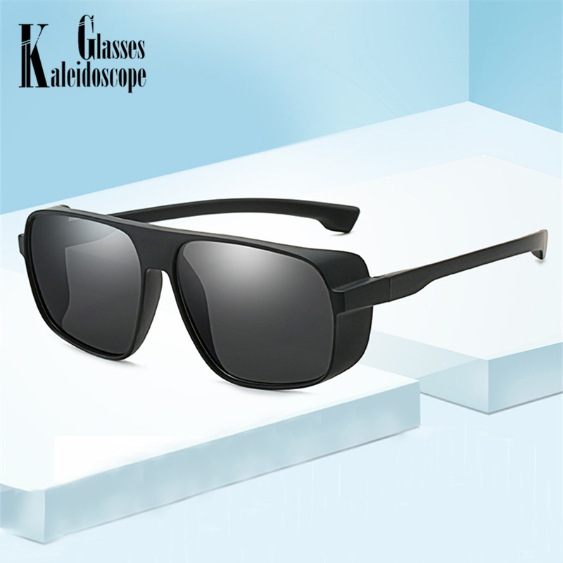 Men Vintage Punk Sunglasses Women Square Sun Glasses Oversized Brand Designer Eyewears Big Frame Eyeglasses Goggles UV400