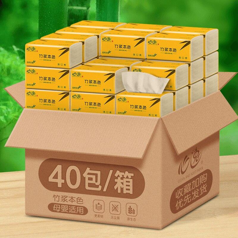 facial de bambu natural do papel de