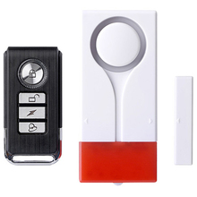 Home Security Alarm Rood Flash With Sound Window Door Magnet Sensor Detector Wireless Alarm System+ Remote Controller