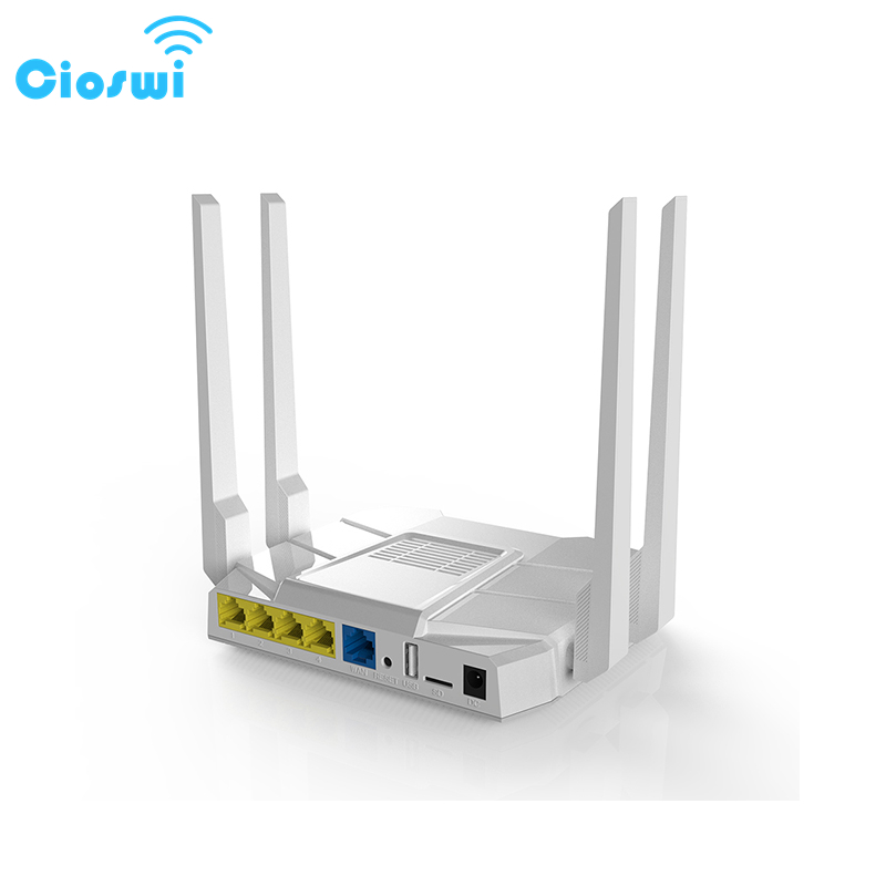 Cioswi Dual Band 2.4G & 5G 1200Mbps Wireless Wifi Gigabit Router Wide Coverage Strong Stable Wifi Signal High Gain Antennas