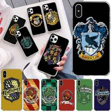 Harries Potter schule abzeichen Schwarz Soft Shell Telefon Fall Capa für iPhone 11 pro XS MAX 8 7 6 6S Plus X 5S SE 2020 XR abdeckung(China)