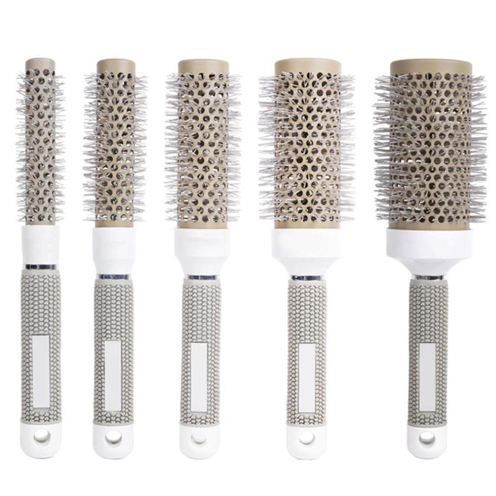 Antistatic Negative Ion Ceramic C Hair Styling Tool Hairbrush Hairdressing Comb Round Curly Hair Comb Curly Hair Rollers Tools
