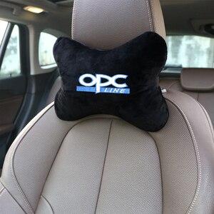 1 sztuk poduszki samochodowe zagłówek poduszka do podłożenia akcesoria na klapę Auto czarna poduszka zabezpieczająca pasuje do opla OPC akcesoria