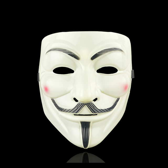 Movie Cosplay V for Vendetta Hacker Mask Anonymous Guy Fawkes Halloween Christmas Party Gift for Adult Kids Film Theme Mask 3