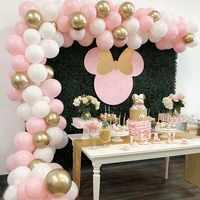 100 Uds Pastel globo guirnalda arco Kit látex decoración de globos para fiestas Deco para boda cumpleaños suministros de baño para bebé