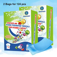 Clean-Clothing Detergent-Sheets Laundry-Tablet Washing-Powder New 124PCS Formula Super-Concentrated