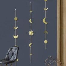 Photo-Props Wall-Hanging Moon-Shape Metal Paper-Pendant Handmade Gift DIY Nice Star 1pcs