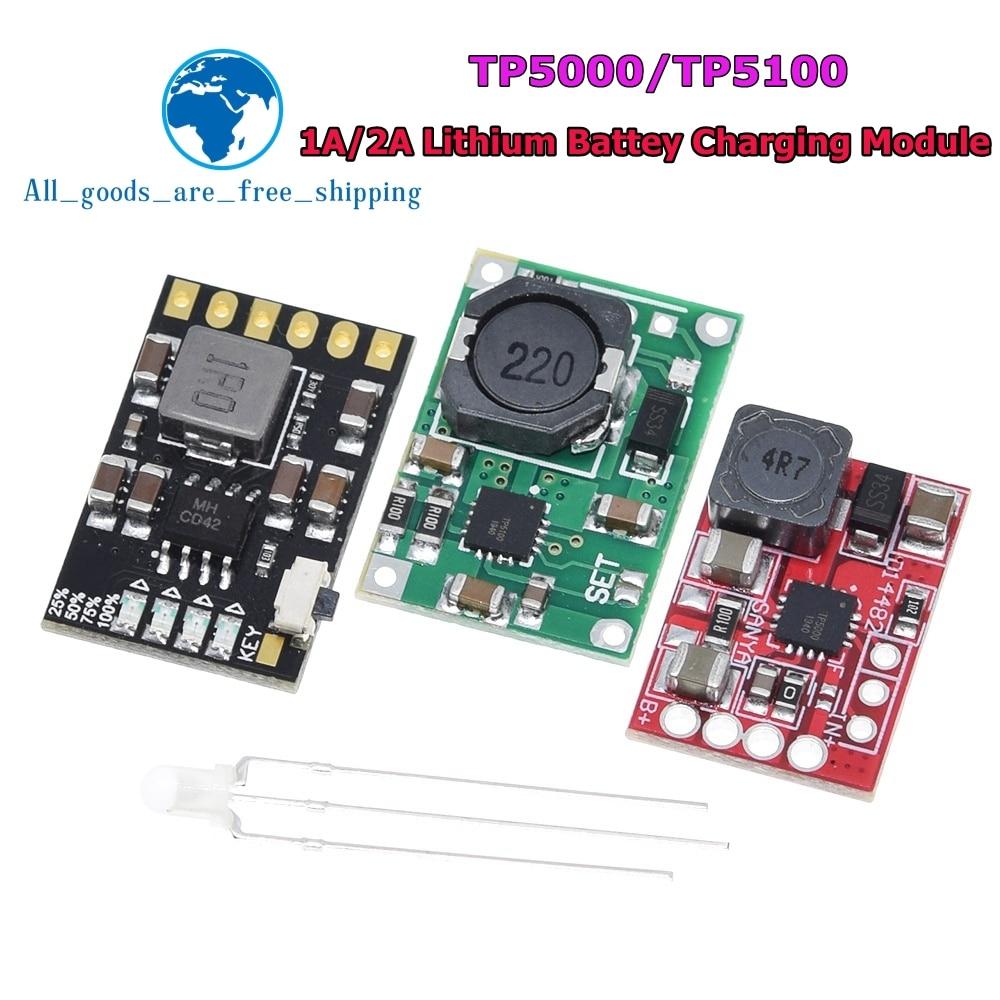 TP5100 carte de module dalimentation de gestion de charge TP5000 1A 2A compatible avec les batteries au lithium simples et doubles 4.2V 8.4V