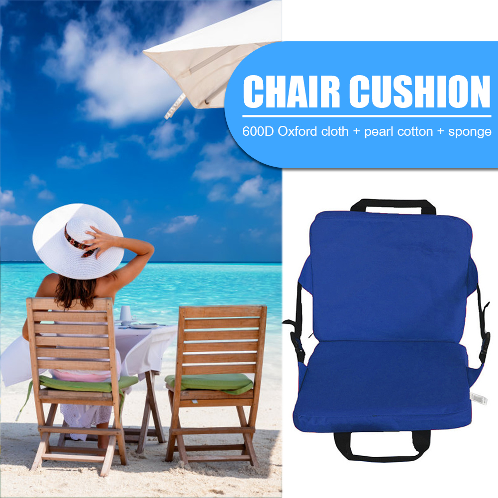 1pcs Outdoor Camping Hiking Sports Accessaries Garden Patio Cushion Chair Camping Beach Foldable Seat Pad with Backrest