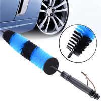 1pcs Multifunction Wheel Wash Brush Car Truck Motor Engine Grille Wheel Wash Brush Tire Rim Cleaning Tool Blue