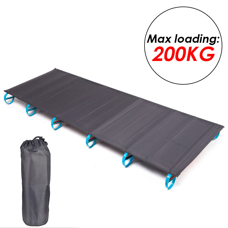 Ultralight Folding Bed Camping Cot Bed Portable Camping Bed Travel Base Camp Hiking Mountaineering Camping  Backpacking Cot Bed