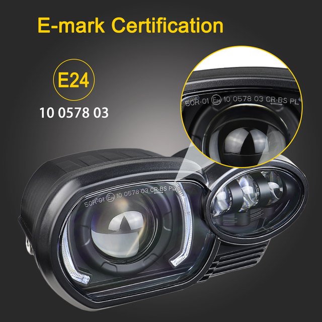 K1200R Headlight Upgrade Replacement Motorcycle Led Headlamp with DRL for BMW K1200R 2005~2009 K1300R 2010~2013 3