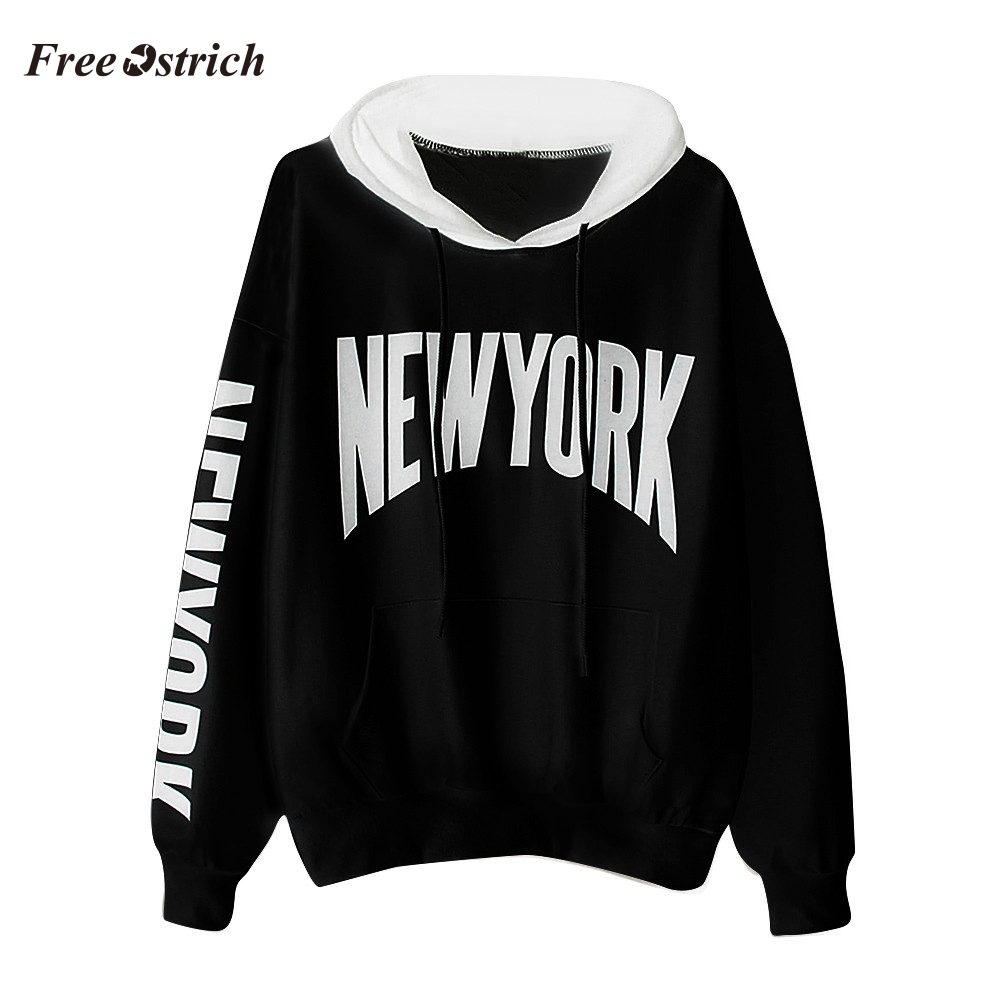 Free Ostrich New Womens Long Sleeve Letter Print Hoodie Sweatshirt Hooded Pullover Tops Blouse Cool Hoodies Designs 91018
