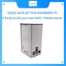 Quad sata kit para raspberry pi 4 facilmente construir seu próprio nas