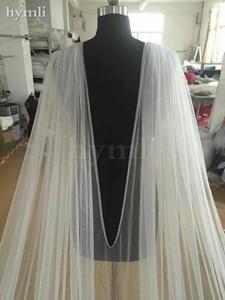 Image 2 - 400 سنتيمتر طويل * 280 سنتيمتر واسعة الزفاف كيب الحجاب كاتدرائية الحجاب الدانتيل فستان الزفاف عباءة ملحق في الأبيض ، أوف وايت ، العاج # ZM001KD