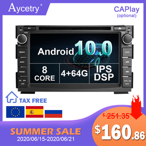 Image 1 - 4G 64G 8 CORE Android 10 2 Din Car Multimedia dvd Player GPS autoradio For Kia Ceed 2009 2010 2011 2012 Car Radio PC wifi dsp