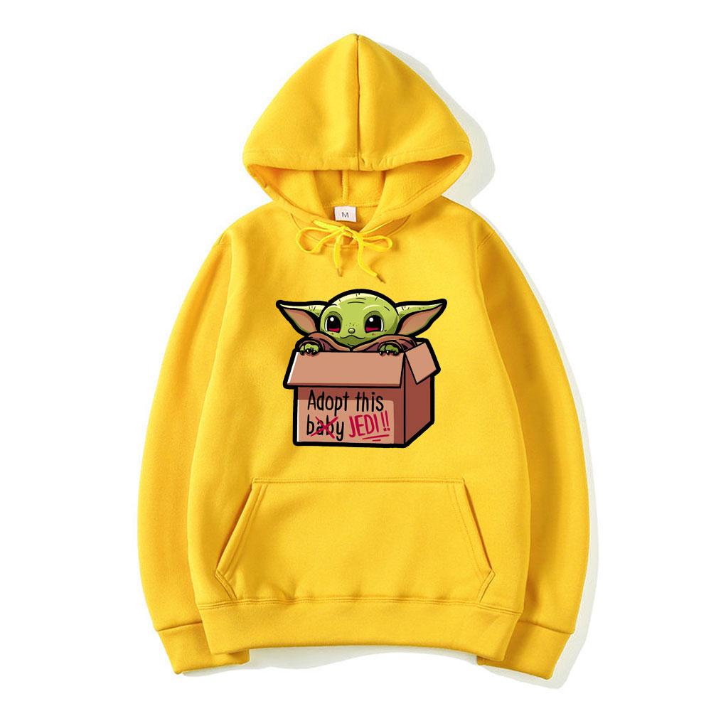 Baby Yoda The Mandalorian Hoodie Sweatshirts Fleece Hoodies Autumn Winter Hooded Eed Me And Tell Me I'm Pretty Funny Streetwear