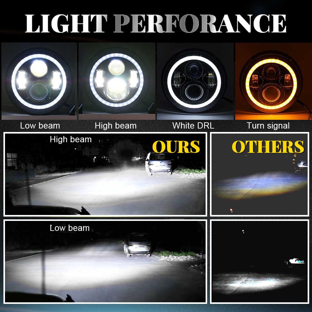 Светодиодный светильник CO 6D 2020 Новый 7-дюймовый головной светильник Halo 80 Вт, сигнал поворота Hi/Low Amber Angle Eyes DRL для Lada Niva Urban Off Road 4x4 12V 24V
