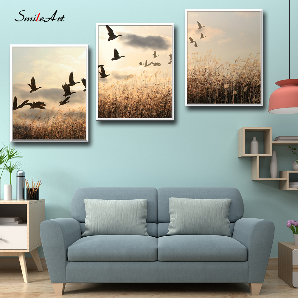 Modern Style Scenery Posters Canvas Art Painting Wall Art Nursery Decorative Picture Nordic Style Kids Deco in Painting Calligraphy from Home Garden
