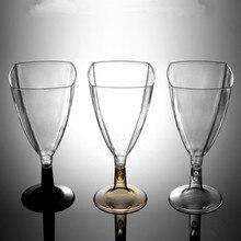 50 шт., высокое качество, прозрачный бокал для вина, креативный птичий день, Свадебная вечеринка, ручная работа, сделай сам, для выпечки, Декор, десерт, пудинг, пластиковые чашки