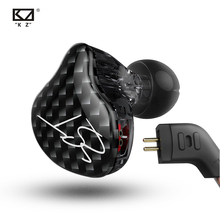 KZ ZST 1DD 1BA سماعة أذن هجينة ديناميكية وكابل قابل للانفصال HiFi Music واقي أذن رياضي KZ EDX ES4 ED9 ED12 ZSN PRO DQ6