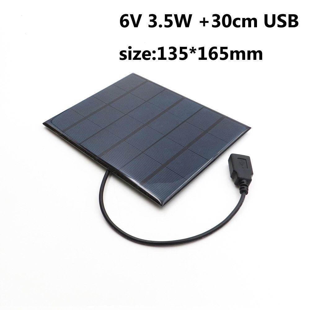 fabrica 6v 3 5w modulo de celula solar policristalino painel solar com fio de cabo diy