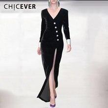 Chicever сексуальные вечерние платья для женщин v образный вырез