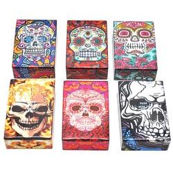 Étui à cigarettes créatif avec une variété de modèles de crâne en plastique tabac étui à cigarettes taille de poche boîte à cigarettes fumer
