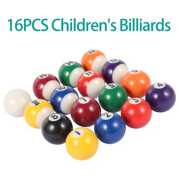 16 sztuk 25 38mm kulki żywiczne Mini kula bilardowa dzieci Snooker piłki zabawka piłki stołowe zestaw mały kij bilardowy piłki dzieci zabawy tanie i dobre opinie POOL Billiard Kompletny zestaw z kulkami Żywica