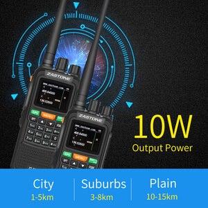 "Image 2 - 2pcs Zastone 889G נייד שתי בדרך רדיו 5 10 ק""מ UHF/VHF 10W 999CH 3000mAh ווקי טוקי חם CB רדיו משדר HF"