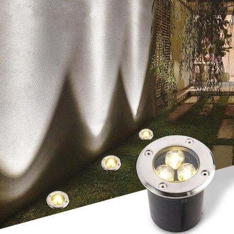 luz subterranea conduzida a prova dwaterproof agua 1w 1led recesso iluminacao do jardim luz de