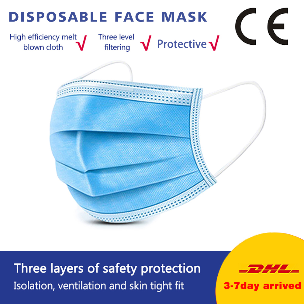 Fast Delivery Mask 5pc Anti Dust Mouth Mask Disposable Masks 50pcs 3 Layers Non-Woven Disposable Mask 10pc Disposable Face Masks