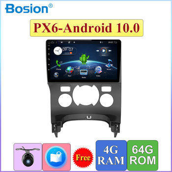Autoradio 1 Din 9'' For Peugeot 3008 2013 Automatical Air Conditioner Car Radio Stereo Player 4+64G Map Camera Canbus HDMI image