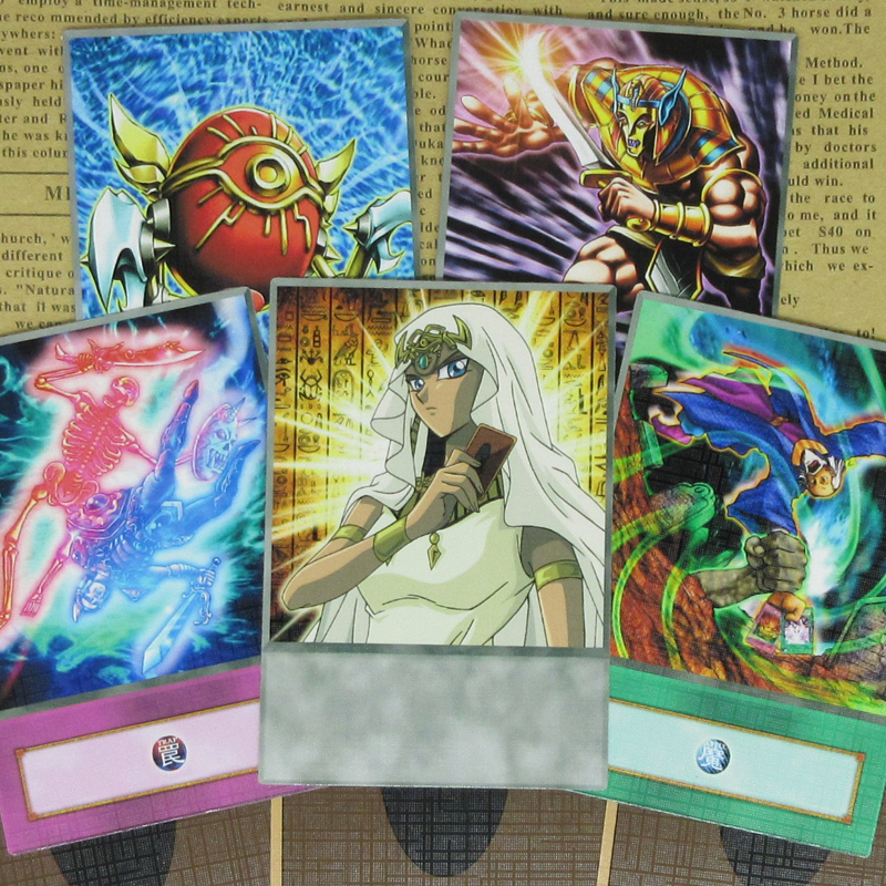 8pcs/set Yugioh DM Ishizu Ishtar Anime Style Cards Exchange Of The Spirit Gravekeeper Isis Egyptian Themed Fairy Deck Orica