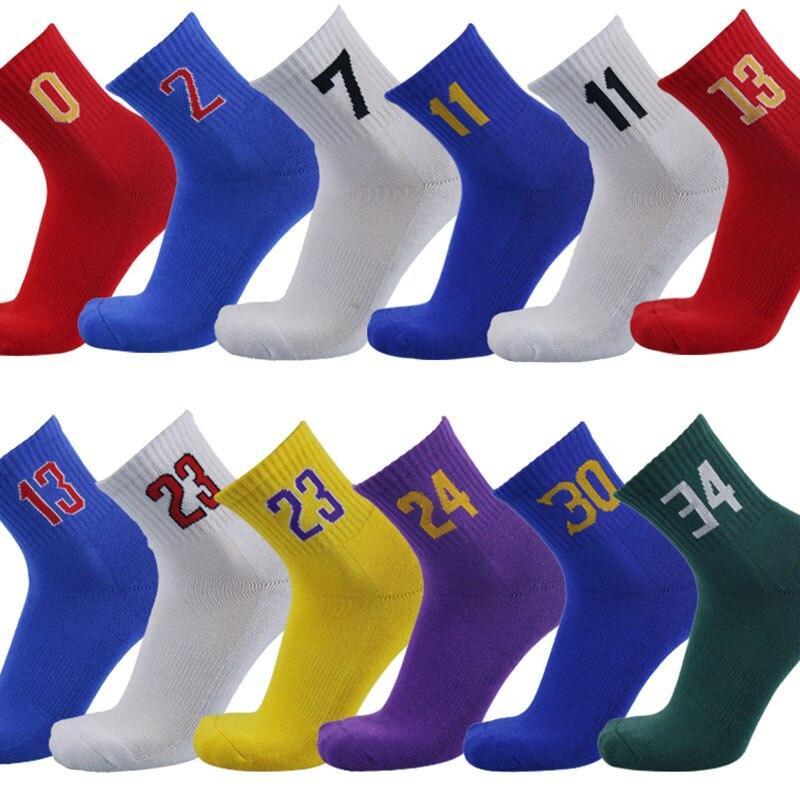 Мужские носки супер звезда Баскетбол Элитные толстые спортивные носки нескользящие прочные скейтборд носки полотенца чулок