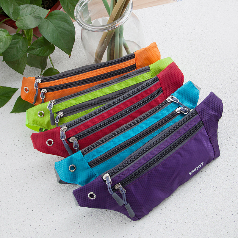 New Light Belt Fashion Waterproof Nylon Chest Waist Bags Unisex Fanny Pack Ladies Waist Pack Belly Sling Bags Black
