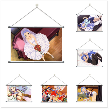 Anime Kannagi Crazy Shrine Maidens Nagi Zange Aoba Alloy Fabric Wall Poster Scroll image